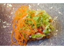 65 - Sushi pizza au tartare de saumon et crabe - 2 mcx