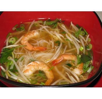 14 - Soupe tonkinoise crevettes épicées, légumes et nouilles